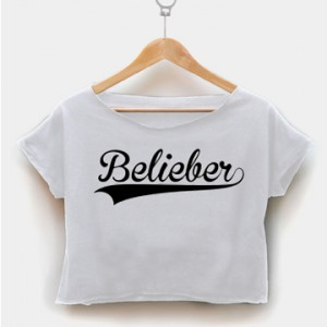 Belieber font black crop shirt women clothing by fashionveroshop