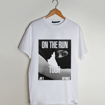 Beyonce and Jay Z On The Run t shirt men and t shirt women by fashionveroshop