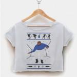 Babby slut pizza crop shirt graphic print tee for women size S,M,L,XL,2XL