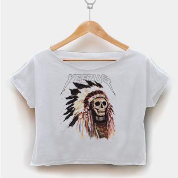Kanye West Yeezus crop shirt graphic print tee for women