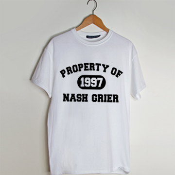 Property of nash grier t shirt men and t shirt women by fashionveroshop