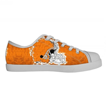 NFL Chicago Bears, Canvas Shoes Kids White Low Top Canvas Shoes
