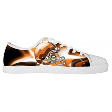 NFL Chicago Bears Canvas Shoes Men White Low Top Canvas Shoes