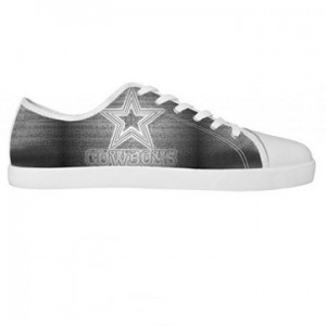 NFL Dallas Cowboy Canvas Shoes White Low Top Canvas Shoes