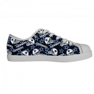 NFL Dallas Cowboys Canvas Shoes Kids White Low Top Canvas
