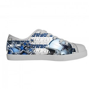 NFL Dallas Cowboys Canvas Shoes Kids White Low Top Canvas Shoes