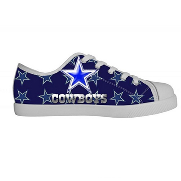 NFL Dallas Cowboys Canvas Shoes Kids White Low Top