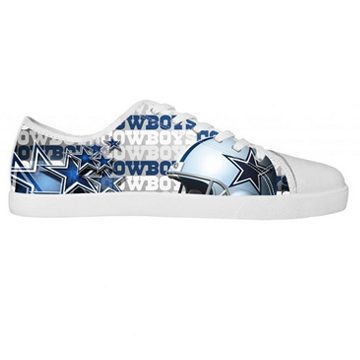 NFL Dallas Cowboys Canvas Shoes Men White Low Top Canvas Shoes