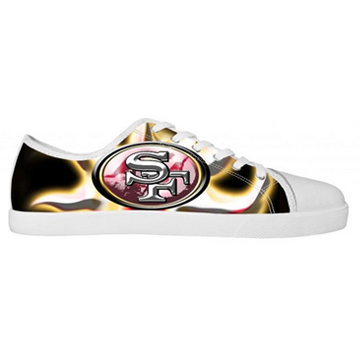 NFL San Francisco Canvas Shoes White Low Top Canvas Shoes