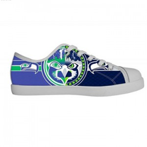 NFL Seattle Seahawks Canvas Shoes White Low Top Canvas Shoes