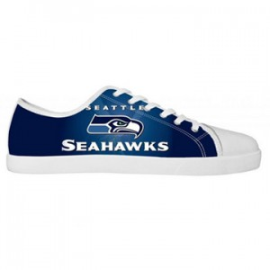 NFL Seattle Seahawks Canvas Shoes Men White Low Top Canvas Shoes