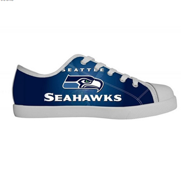 NFL Seattle Seahawks Canvas Shoes White Low Top Canvas Shoes 04