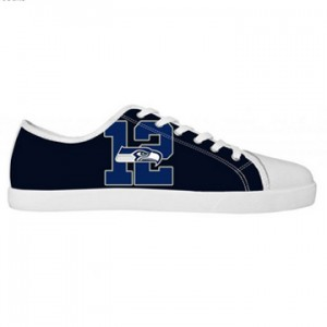 NFL Seattle Seahawks Canvas Shoes White Low Top Canvas Shoes 01