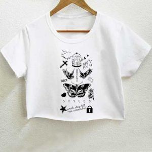 Tattoo Harry Styles one direction t shirt men and t shirt women by fashionveroshop