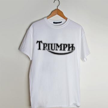 477c7270e Triumph Motorcyles white t shirt men and t shirt women by ...