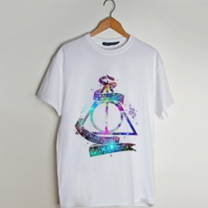 galaxy deathly hallows t shirt men and t shirt women by fashionveroshop