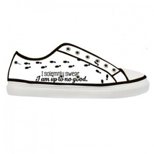 i solomnly swear i am to no good harry potter canvas shoes adult men and women