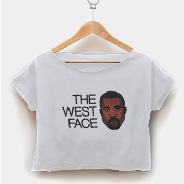 the west face crop shirt graphic print tee for women