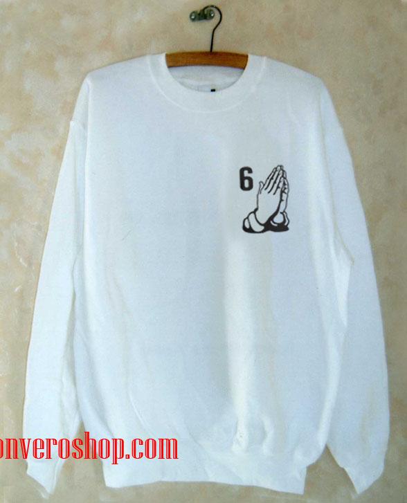 6 PRAY HANDS Sweatshirt