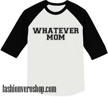Whatever mom muscle Raglan Unisex Shirt