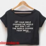 alice in wonderland crop shirt women