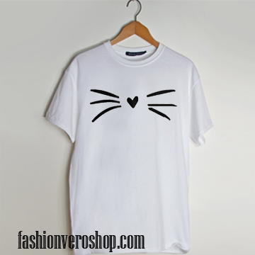 Cute Cat Whiskers T shirt