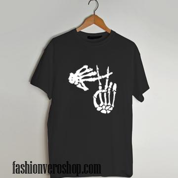 skeleton clique T shirt