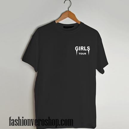 Girls tour pink bomber T shirt