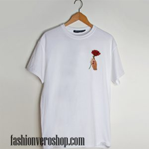 Rose and Hand T shirt