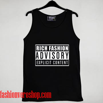 rich fashion advisory Tank top women