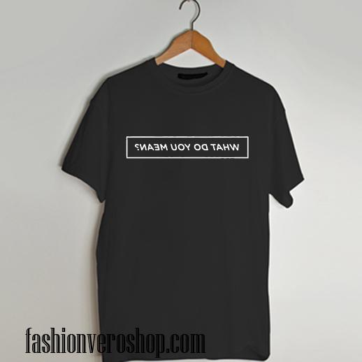 what do you mean justin bieber lyrics T shirt
