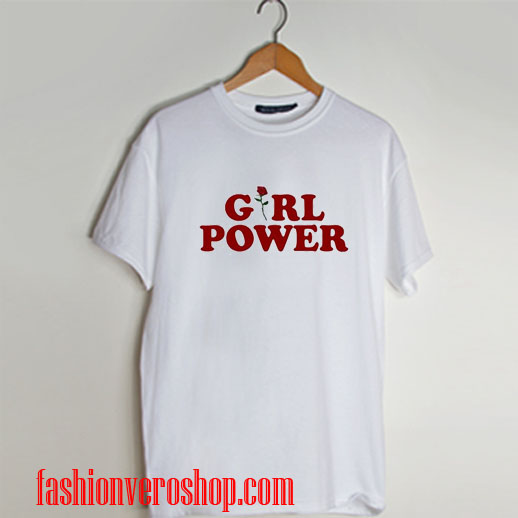 Girl Power Flower T shirt