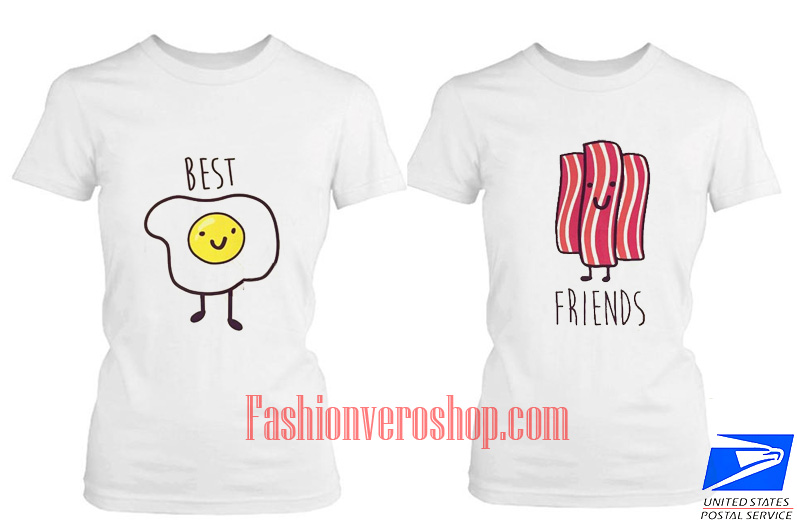 bacon and egg friend BFF Couple T Shirt women