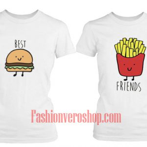 French fries friends BFF Couple T-Shirt women