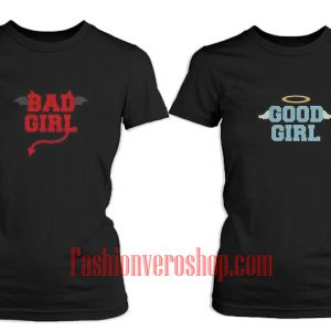 Good Girl Bad Girl BFF Couple T-Shirt women
