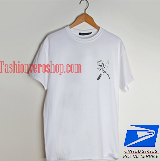 MASON DAGGER ROSE EMBROIDERY T shirt