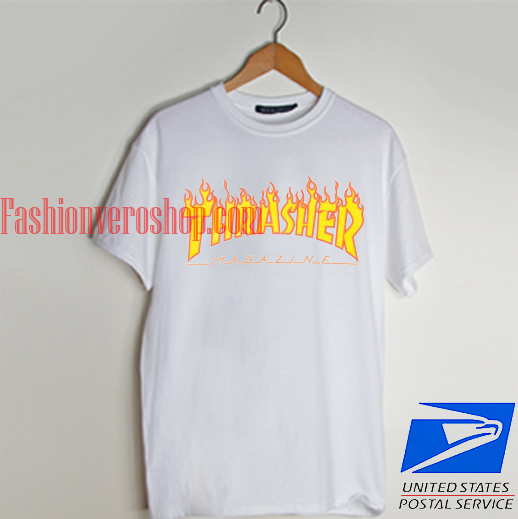 Thrasher Flame Logo T shirt