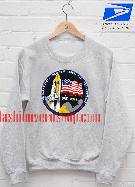 43770d4b NASA Saluting Space Shuttle Sweatshirt