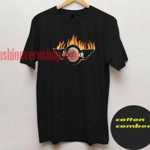 Hard rock Fire T shirt