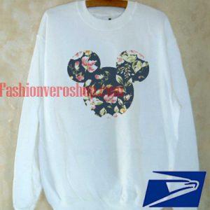 disney floral mickey Sweatshirt