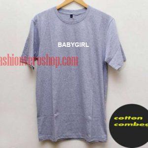 Babygirl grey T shirt