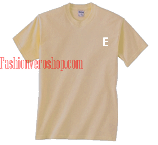 E alphabet T shirt