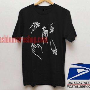 Harajuku hands T shirt