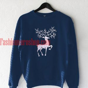 Reindeer Navy blue Sweatshirt