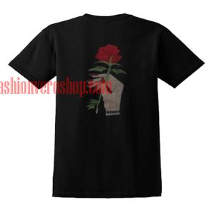 Rose Flower hand T shirt