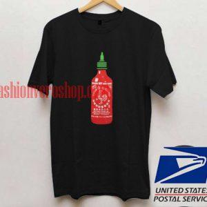 Sriracha Bottle Illustration T shirt
