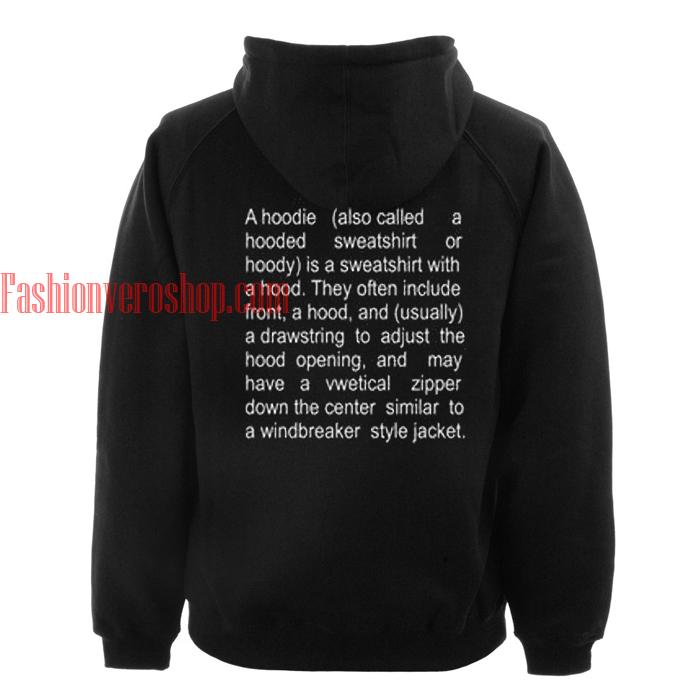 the description of a Black hoodie