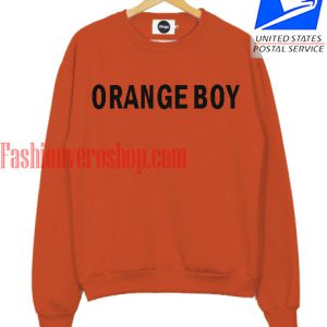 Orange Boy Sweatshirt