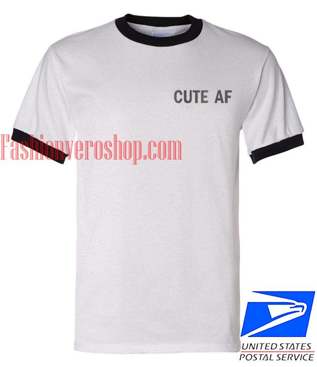 Unisex ringer tshirt Cute Af