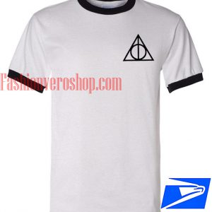 Unisex ringer tshirt - Harry Potter Deathly Hallows